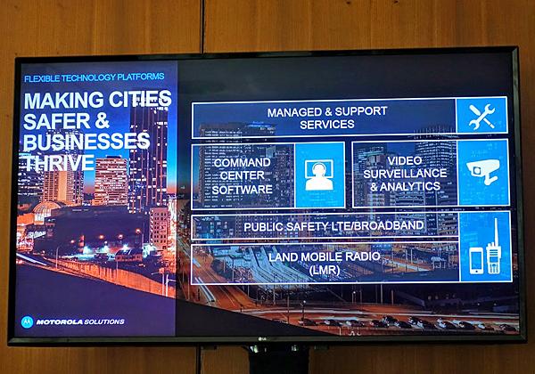 מוטורולה סולושנס - ספקית גלובלית של מערכות לביטחון ערים ועסקים. צילום: פלי הנמר