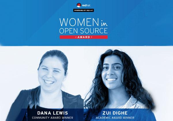 זוכות פרס Women in Open Source Award 2018