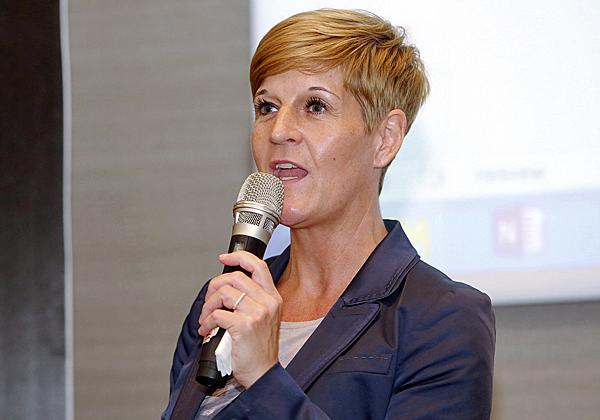 סנדרה טיסקנס, מנהלת אזורית למזרח אירופה וישראל ב-OpenText. צילום: ניב קנטור
