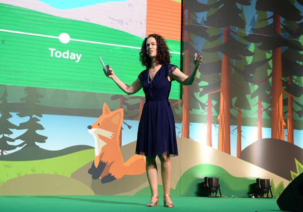 הילה לוי-לויה, סגנית נשיאה אזורית ומנהלת הפעילות של סיילספורס (Salesforce) בישראל. צילום: קובי קואנקס