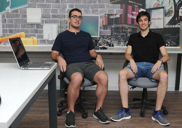 הסטודנטים רון מרקוביץ ויובל רון. צילום: רמי שלוש, דוברות הטכניון
