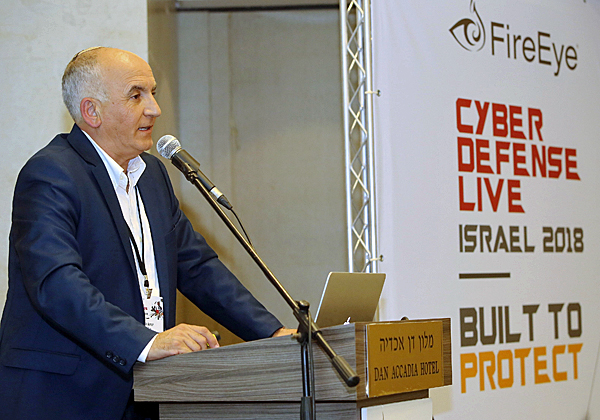 מאיר עמור, מנהל פעילות FireEye בישראל, פותח בדברים. צילום: ניב קנטור