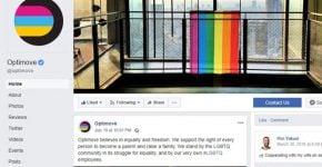 """עמוד הפייסבוק של אופטימוב. צילום: יח""""צ"""