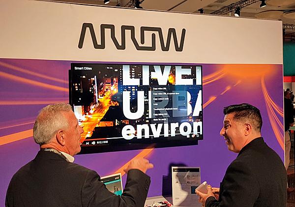 Arrow מציגה בתערוכה בכנס את שיתוף הפעולה עם היטאצ'י ונטרה בתחום הערים החכמות. צילום: פלי הנמר