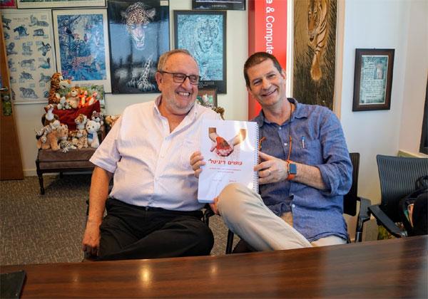"""פרופ' ישע סיון, מייסד ומנכ""""ל i8 Ventures ורז הייפרמן, יועץ בכיר לטרנספורמציה דיגיטלית ב-i8 Ventures. צילום: פלי הנמר"""