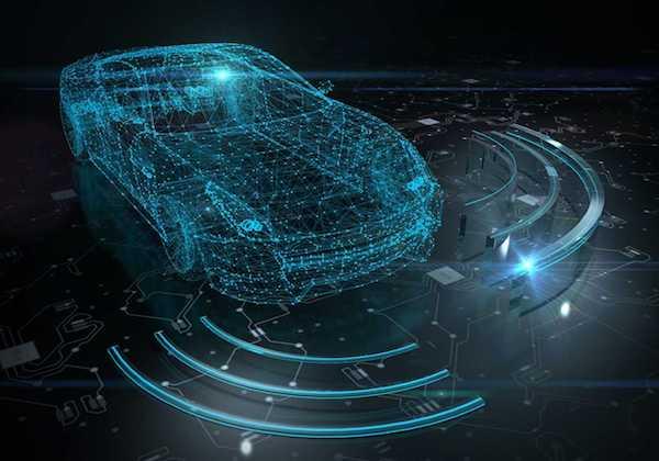 """הדמיית רכב אוטונומי. צילום: יח""""צ"""