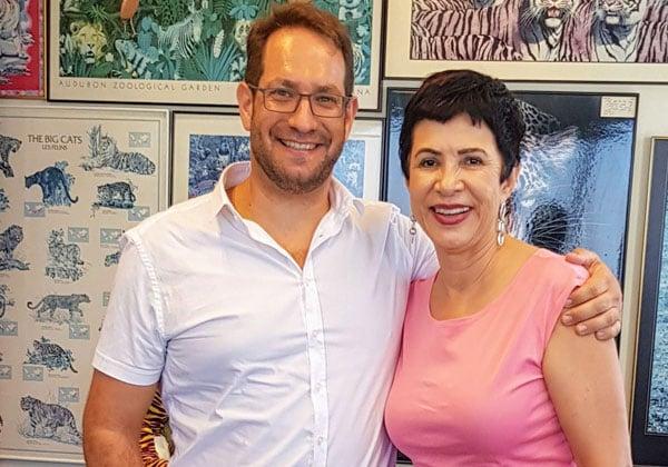 """דליה פלד ואבירם סושרד, מנכ""""ל פיליפס אלקטרוניקס ישראל. צילום: פלי הנמר"""