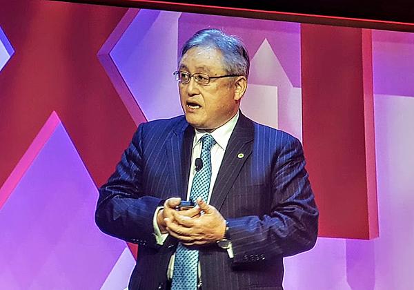 """טושיאקי היגאשיהארה, נשיא ומנכ""""ל תאגיד היטאצ'י הגלובלי. צילום: פלי הנמר"""
