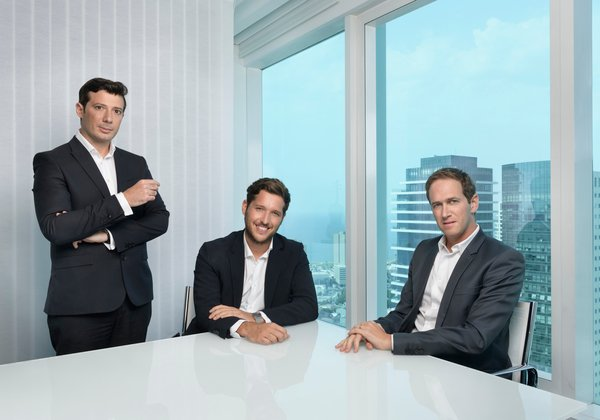 מימין לשמאל: מנואל זיסהולץ, עמית קורץ וסמואל כהן סולל. צילום: יונתן בלום