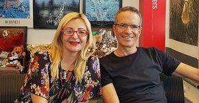 בביקור במאורת הנמר: אלברטו מרנפלד, ראש פעילות התוכנה כשירות של אורקל בישראל, וגילי שלזינגר-מורן, מנהלת חטיבת האנטרפרייז באגף ה-SaaS באורקל ישראל. צילום: פלי הנמר