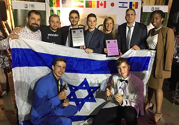 הצוות הישראלי בתחרות SAGE בדרבן שבדרום אפריקה. צילום: לב ברמן