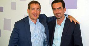 """מימין: אלי שקד, מנכ""""ל VMware ישראל, וז'אן פייר ברולרד, סגן נשיא בכיר ומנהל כללי של החברה לאזור EMEA. צילום: פלי הנמר"""