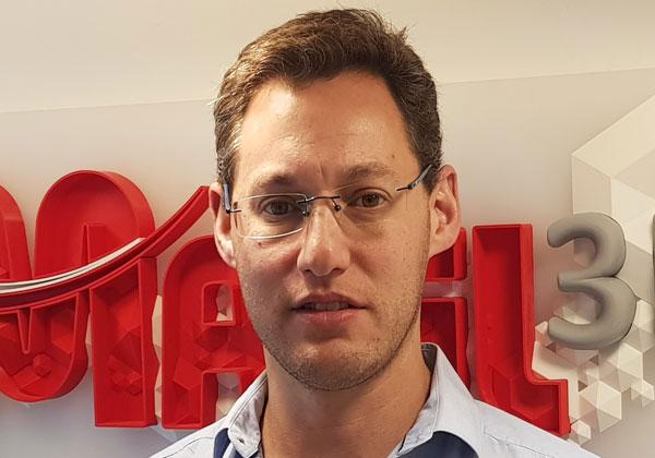 אנדרס אידסס, מנהל חטיבת התלת ממד בחברת מפעיל. צילום: יח