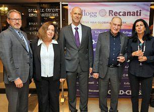 דורית סלינגר באירוע של הפקולטה לניהול באוניברסיטת תל אביב