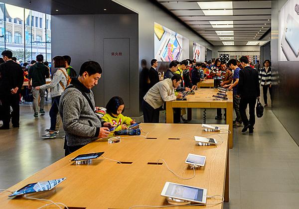 חנות של אפל בשנחאי. צילום: BigStock