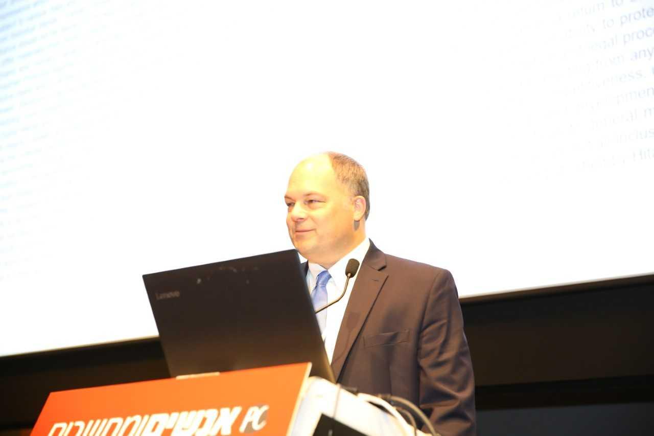 """ג'ף קנקל, סמנכ""""ל טכנולוגיות גלובלי בתחום הבריאות ומדעי החיים בהיטאצ'י ונטרה. צילום: אלישר"""