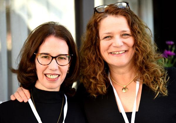 """מימין: לי-מור נבון, מנכ""""לית WEDO; ומיכל טאוב-עובדיה, מנהלת חטיבת יישומי HR ב-WEDO ובקבוצת Unitask. צילום: מורג ביטן"""