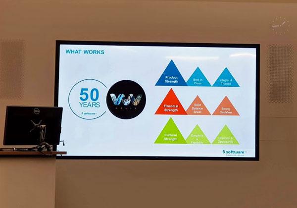 Software AG חוגגת 50 שנים. היא נוסדה ב-1969, מחלוצות פיתוח התוכנה, ומציגה עוצמה בפיתוח מוצרים, כשכל פתרונותיה ברביע הימני העליון של גרטנר ובגל הראשון של פורסטר. צילום: פלי הנמר