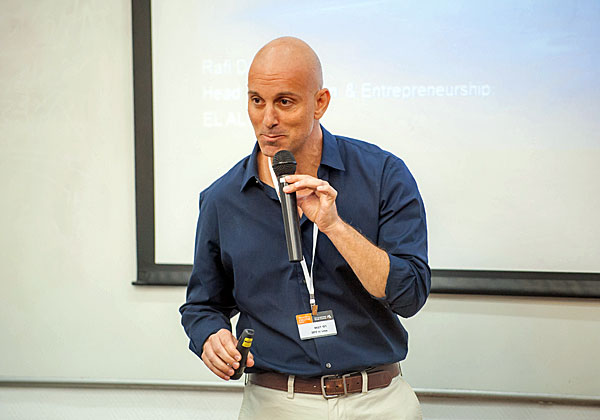 רפי דבוש,מנהל תחום יזמות וחדשנות טכנולוגית באל על. צילום: אוניברסיטת בר אילן