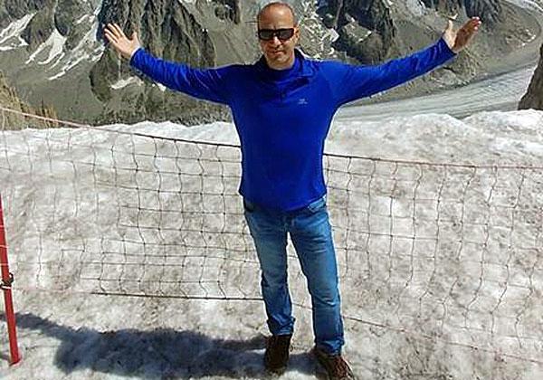 אריק טל באחד הדברים שהוא הכי אוהב: חופשת סקי. צילום עצמי