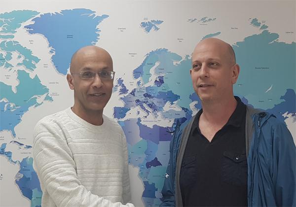 """גיל עדני, מנכ""""ל האקריו ומאט רייס, מנכ""""ל LPI. צילום: ינון שבירו"""