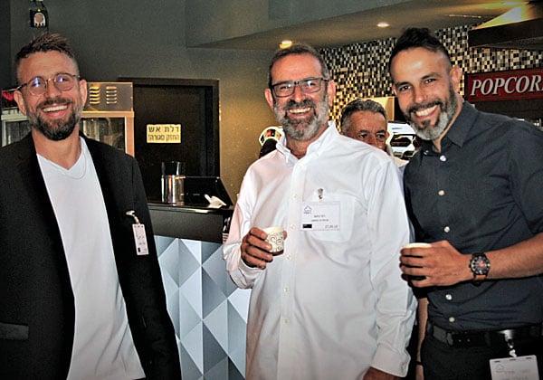 """מימין: קובי גיירו; רמי נחום, מנכ""""ל טריפל סי; ורהב רוזנטל. צילום: גילי חנוך"""