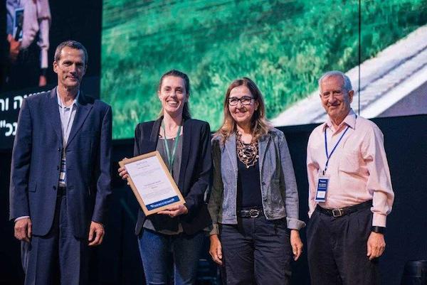 """חברי מיזם MUCA מקבלים את פרס גליקמן. צילום: יח""""צ"""