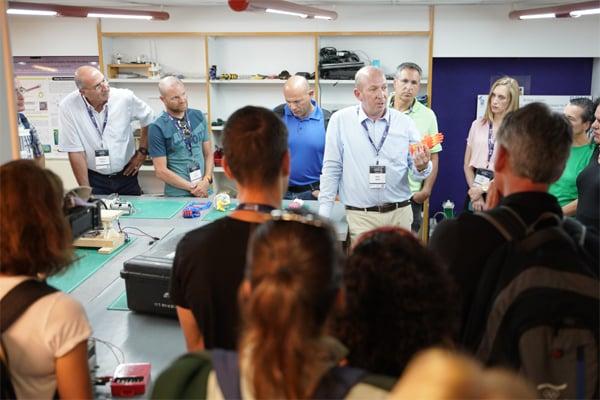 Shaharsagiv – הטריאתלט שחר שגיב במעבדת הביומכניקה של פרופ' אלון וולף בטכניון. צילום: ניצן זוהר, דוברות הטכניון