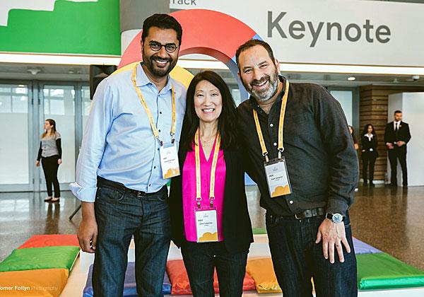 מימין: אדם סליגמן, קרול קרפנטר וצ'נדרה רנגאן. צילום: תומר פולטין