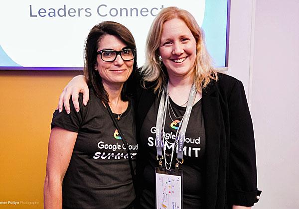 מימין: שני ויינשטיין ואלית בן בסט נוריאל, מנהלות השיווק של Google Cloud. צילום: תומר פולטין