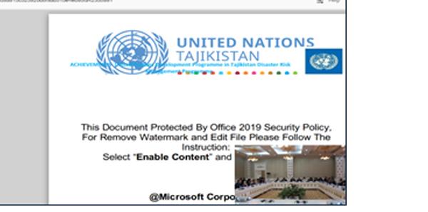 השלב הראשון – התחזות למסמכים רשמיים ושלב ה Preview. צילום מסך