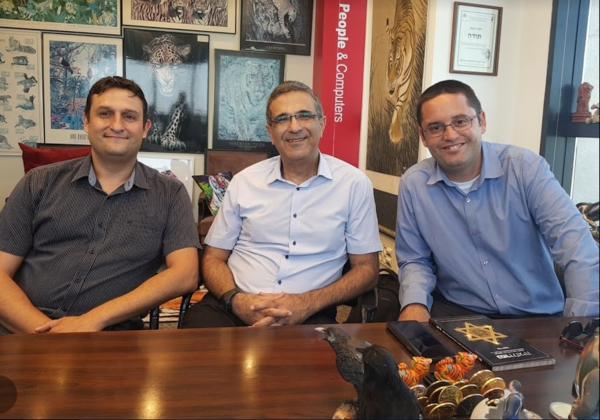 מימין: יואב דוקטש, ששון סופרי, שי ולמר, מיזם גיידסטאר, משרד המשפטים. צילום: פלי הנמר