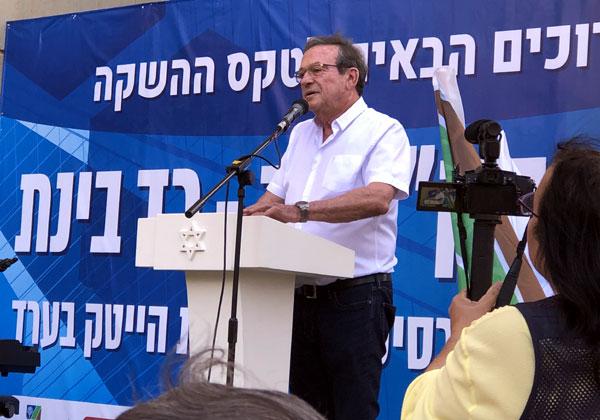 """יהודה זיסאפל, נשיא קבוצת רד בינת, במהלך האירוע. צילום: אמנון גוטמן, מערך ההסברה של קק""""ל"""