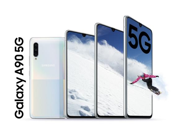 """Galaxy A90 5G של סמסונג. צילום: יח""""צ סמסונג"""