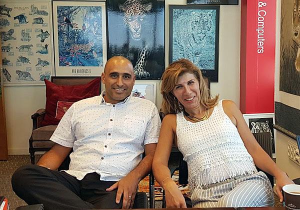 מימין: מיטל ואסף הדר, המייסדים והמנהלים השותפים של מרקטינג סולושנס. צילום: פלי הנמר