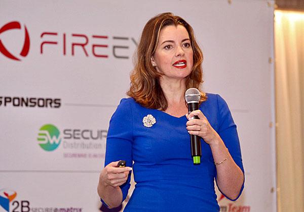 סנדרה ג'ויס, סגנית נשיא בכירה וראשת מערך מודיעין האיומים בפייראיי. צילום: ניב קנטור