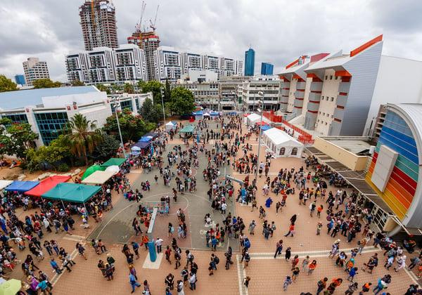פסטיבל אייקון מבט מלמעלה. צילום: אריק פרייס