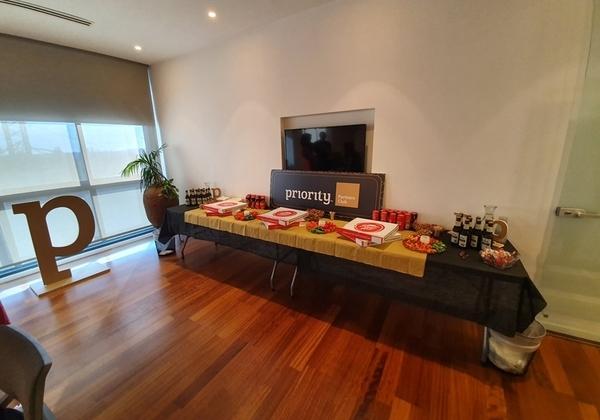 """אירוע לשותפים עסקים ישראליים בחברת פריוריטי סופטוור. קרדיט: יח""""צ"""