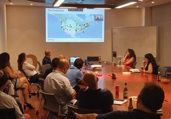"""אירוע שותפים עסקים ישראליים בחברת פריוריטי סופטוור. קרדיט: יח""""צ"""