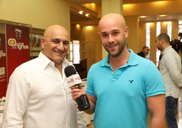 """עוזי נבון, מנכ""""ל אורקל ישראל, מתראיין לערוץ 13 בשבוע אורקל בשנה שעברה. צילום: עזרא לוי"""