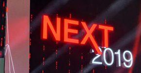 שלט ברוכים הבאים לכנס NEXT של היטאצ'י ונטרה. צילום: פלי הנמר