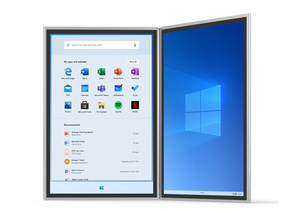 הושעתה. Windows 10X. צילום: מיקרוסופט