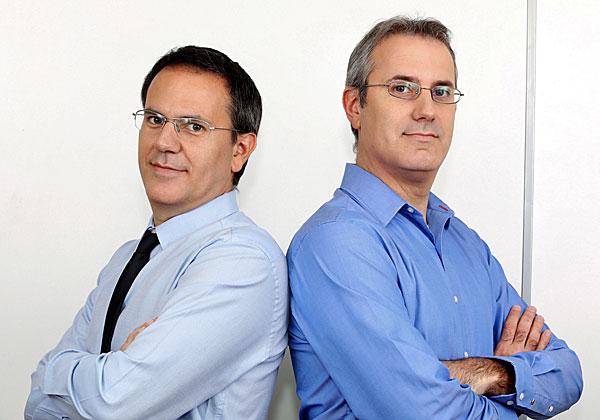 """אריק פיינגולד, נשיא Comm-IT, ועידן פיינגולד, מנכ""""ל החברה. צילום: ניב קנטור"""