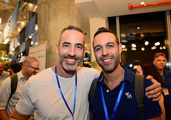 """משמאל: אלון גת, מנכ""""ל טרדיס-גת, ורון שושני (רונשו), מנהל הפיתוח של Testim.io. צילום: אבירם נחום, סטודיו איגל ארט"""