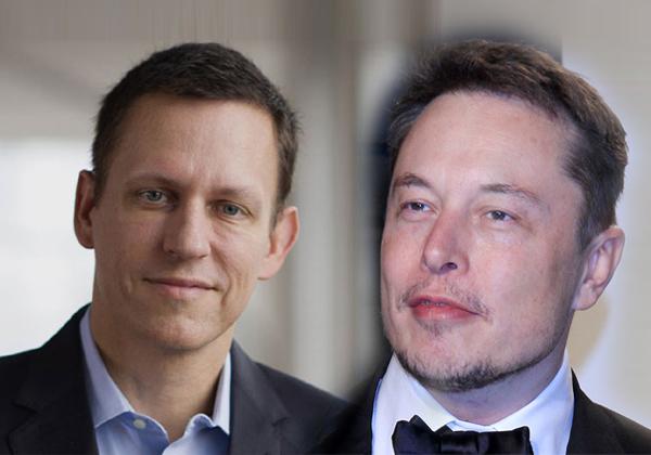 """מימין: אילון מאסק, יזם וחדשן ומנכ""""ל טסלה. צילום: BigStock; משמאל: פיטר ת'יל, משקיע ההון סיכון וחבר דירקטוריון פייסבוק. צילום: יח""""צ"""