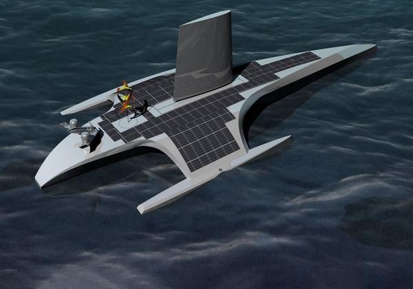 ספינת (ה)מייפלאואר האוטונומית (MAS) של יבמ וארגון המחקר הימי ProMare. אילוסטרציה: יבמ