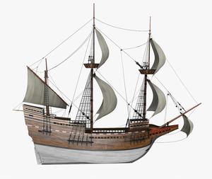 ספינת המייפלאואר המקורית. איור: יבמ