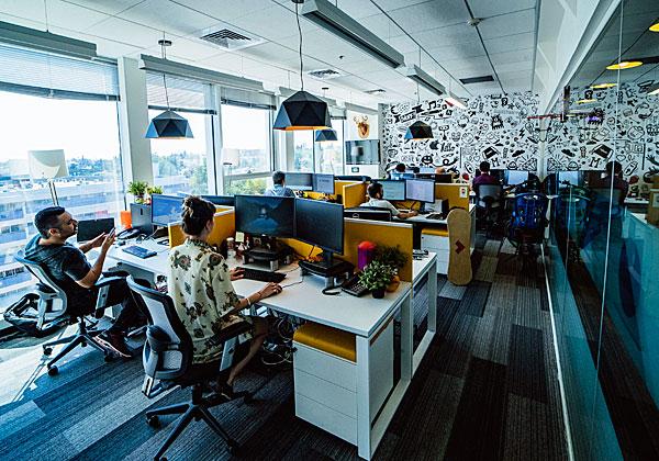 הסטודיו של אלעד מערכות (לשעבר נטקראפט), המתמחה בעולם חוויית המשתמש. צילום: ויקטור לוי