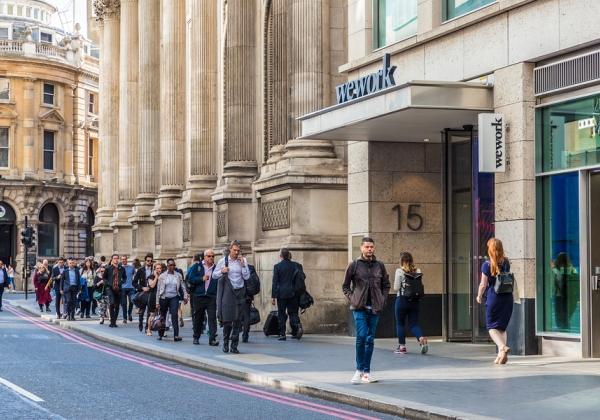 אחד מאתרי WeWork בלונדון. צילום: BigStock
