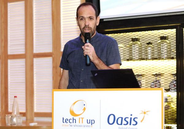 """עמוס רוזנבוים, סמנכ""""ל הטכנולוגיות של אואזיס. צילום: ניב קנטור"""